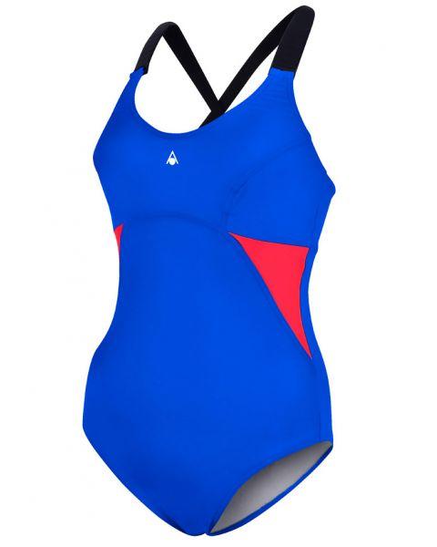 Aqua Sphere Alaska Swimsuit - Navy Blue / Red