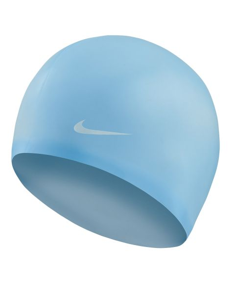 Nike Solid Silicone Swim Cap - Psychic Blue