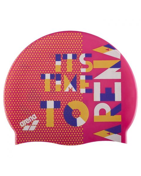 Arena Printed Junior Cap - Dashboard Fresia Rose