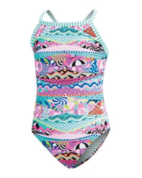Dolfin Uglies Girls Cotton Candy Keyhole Swimsuit