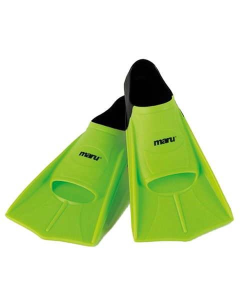 Maru Training Aid Fins - Neon Lime/Black