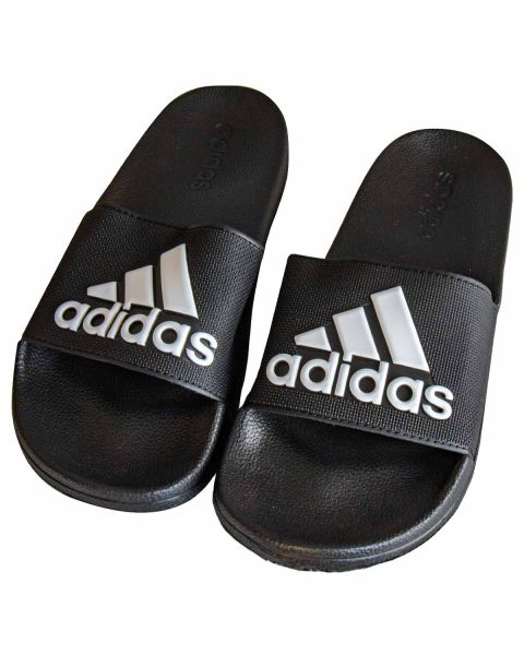Adidas Adilette Shower Slides - Black / White