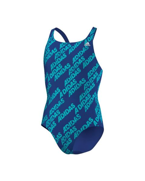 Adidas Girl's Back To School Swimsuit - Blue