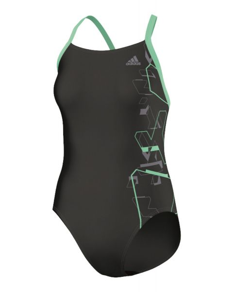 Adidas Dames Tech Range Motion Graphic Badpak - Groen