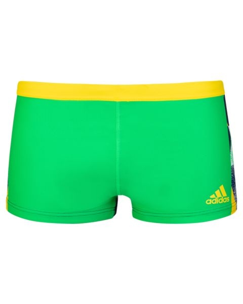 Adidas Men's Graphic Trunks - Yellow/ Lime