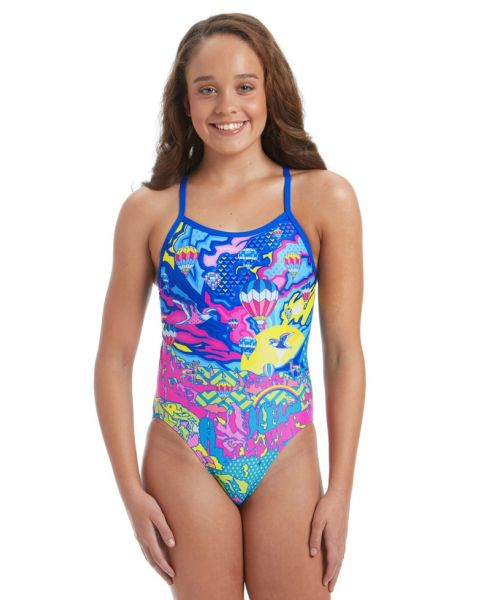 AMANZI Women's Fly Away Swimsuit - Blue / Multi