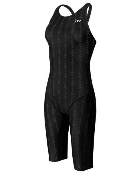 TYR Fusion 2 Female Aeroback Short Black