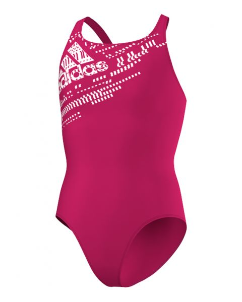 Adidas Junior Performance Swimsuit - Bold Pink / White