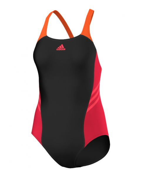 Adidas Girls I INS Swimsuit - Black / Ray Red