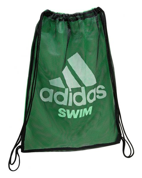 Adidas Swim Mesh Bag Black / Flash Green