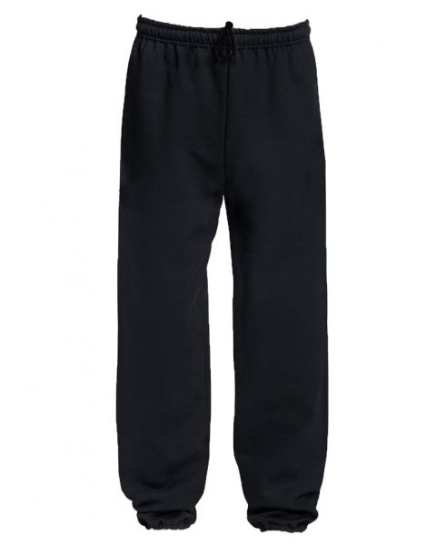 Cuffed Sweat Pants - Black
