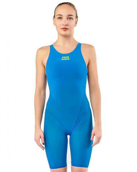 Mad Wave Bodyshell Openback Kneesuit - Azure