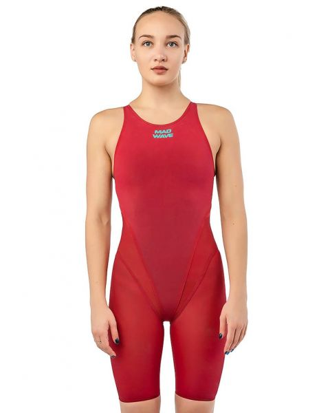 Mad Wave Bodyshell Openback Kneesuit - Red