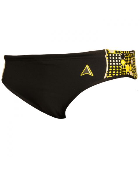 Diana Mens Brenson Briefs - Black / Yellow