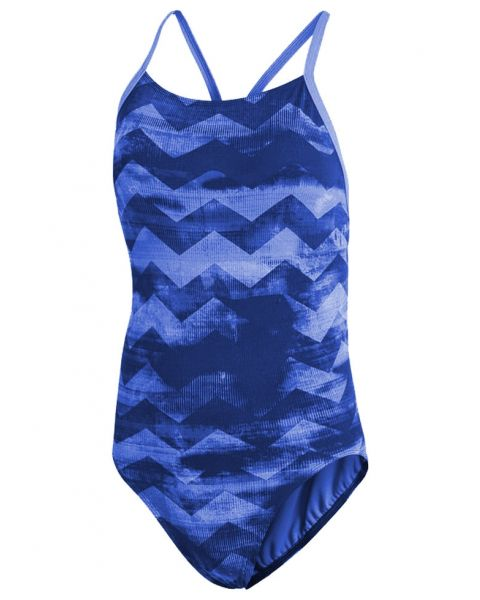 Adidas Womens Allover Printed Performance Training Suit - Collegiate Royal / Ash Blue