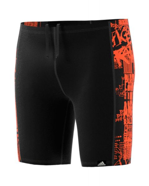 Adidas Drenge Pro Placed Print Jammer - Sort / Orange