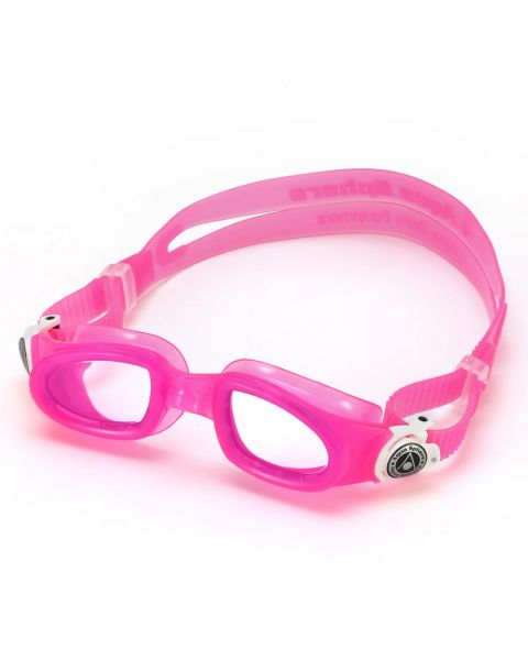Aqua Sphere Barn Moby Kid Clear Lens Briller - Rosa