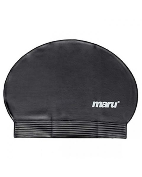 Maru Fast Flow Latex Swim Cap - Black