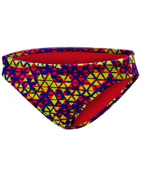 TYR Girls Modena Trinity Bikini Bottom - Red / Yellow