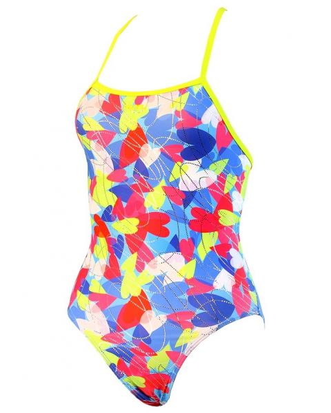 Maru Girls Puzzled Hearts Swimsuit
