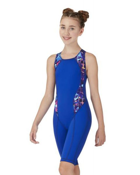 Maru Girl's Andromeda Panel Performance Kneesuit- Multi / Blue
