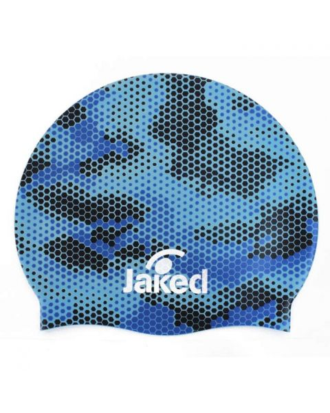 Jaked Cuffia Senior Pixie Swim Cap - Blue