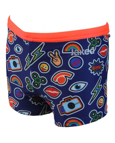 Jaked Boys Millenials Swim Shorts - Blue