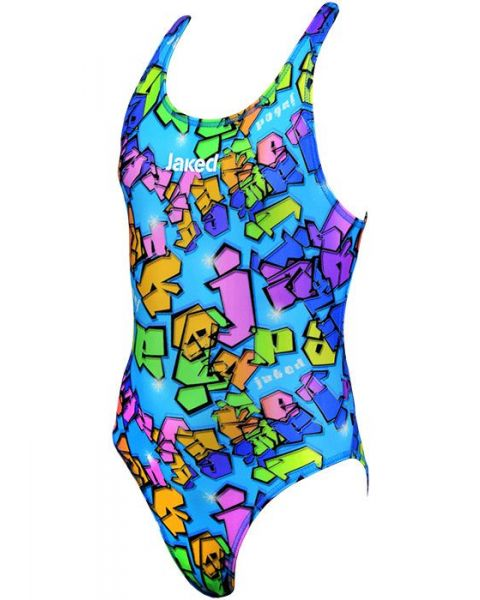 Jaked Spray One Piece Girls Costume Blue/Multi