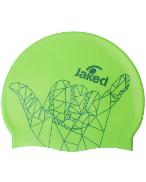 Jaked Yeah! Swim Cap - Green