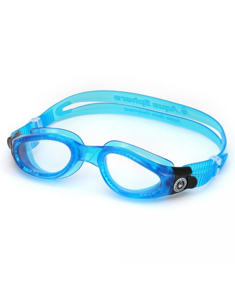Aqua Sphere Kaiman Clear Lens Goggle - Light Blue