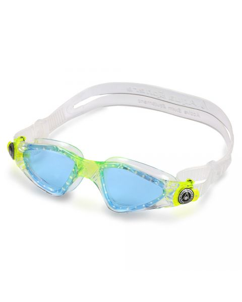 Aqua Sphere Kayenne JR Blue Lens Goggles - Clear / Lime