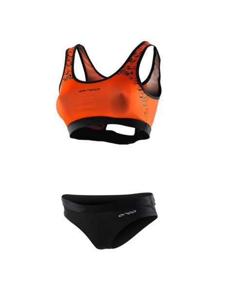 Orca Damer Two Piece Swim Bikinis - Orange