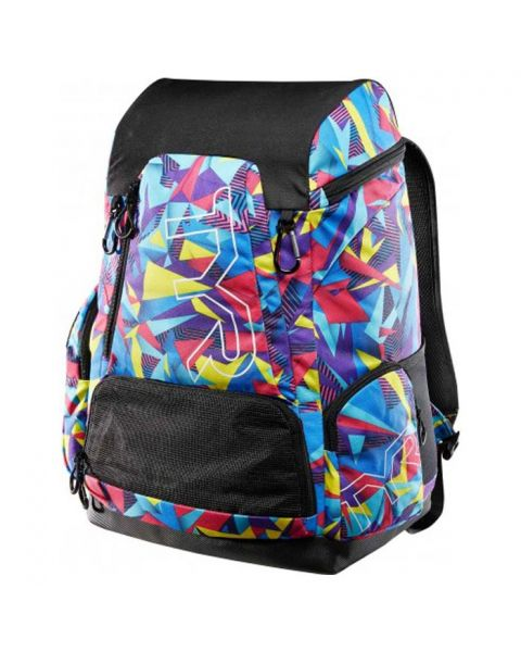 TYR Alliance 45L Backpack - Geo Print - Pink / Purple