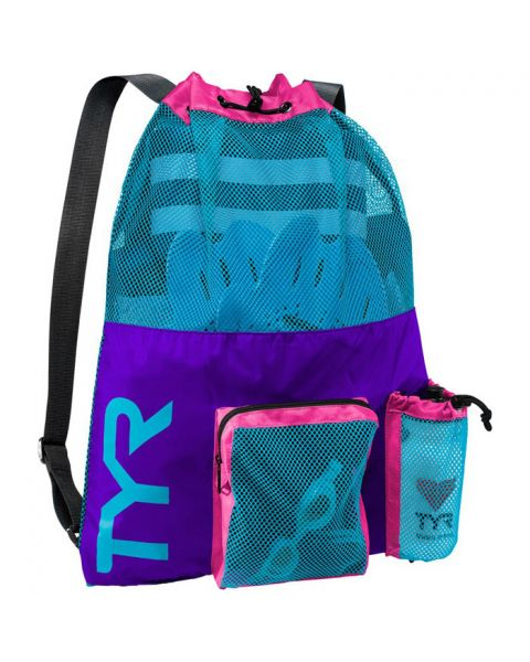TYR Big Mesh Mummy Bag - Purple / Blue