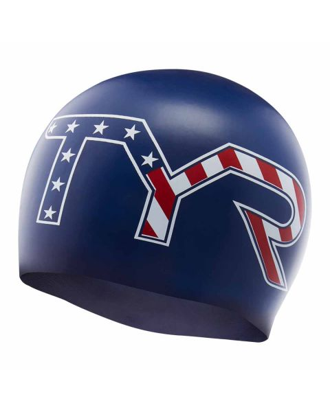 TYR Stars and Stripes Bonnet De Natation En Silicone