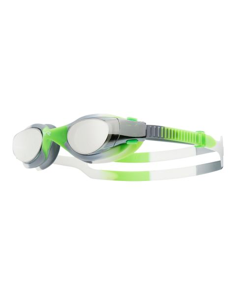 TYR Vesi Tie Dye Youth Fit Mirrored Goggles - Silver/Green/White
