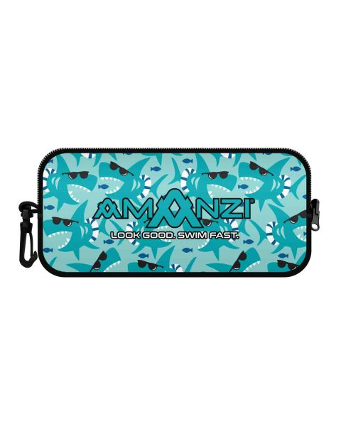 AMANZI Looking Shark Neoprene Estojo Para Óculos
