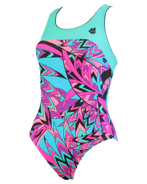 Mad Wave Women's Rate Swimsuit - Turquoise/Pink