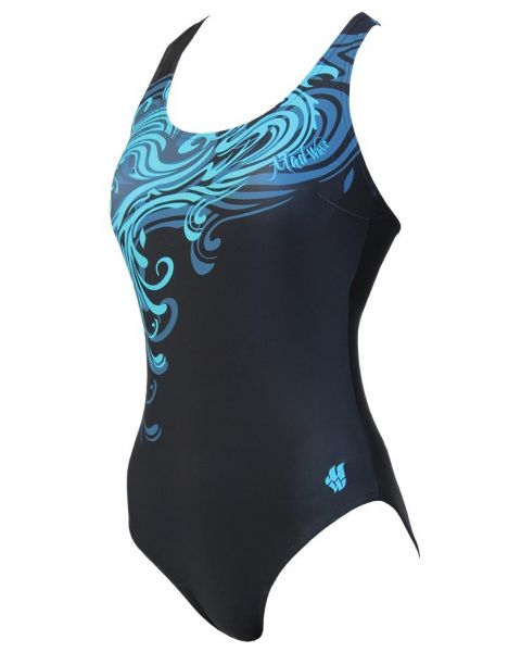 Mad Wave Women's Wave Swimsuit - Black / Blue