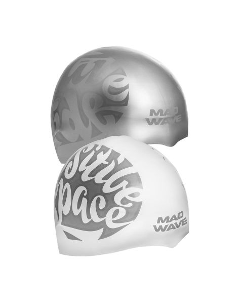 Mad Wave Space Reversible Silicone Cap - Silver
