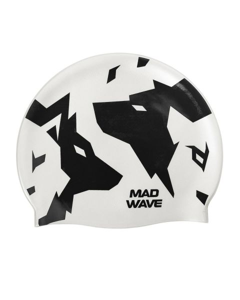 Mad Wave Wolfs Silicone Badmuts - Wit