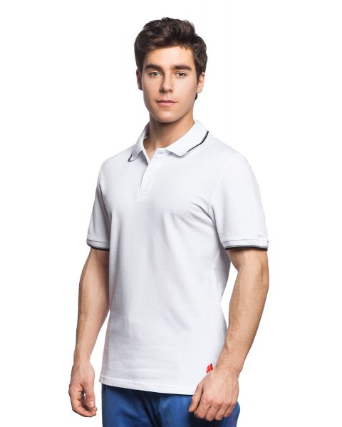 Mad Wave Men's Solid Polo - White