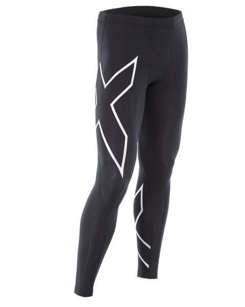 2XU Mens Compression Tights - Black / Silver
