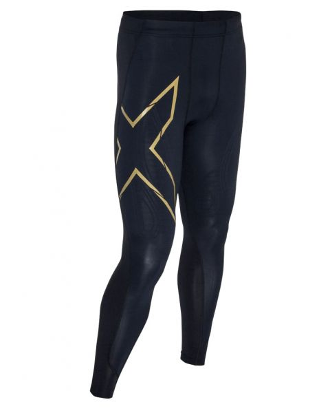 2XU Men's All Sports Compression Tights - Black / Gold
