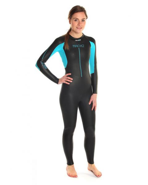 Dare2Tri Womens MACH2 Wetsuit - Black / Blue