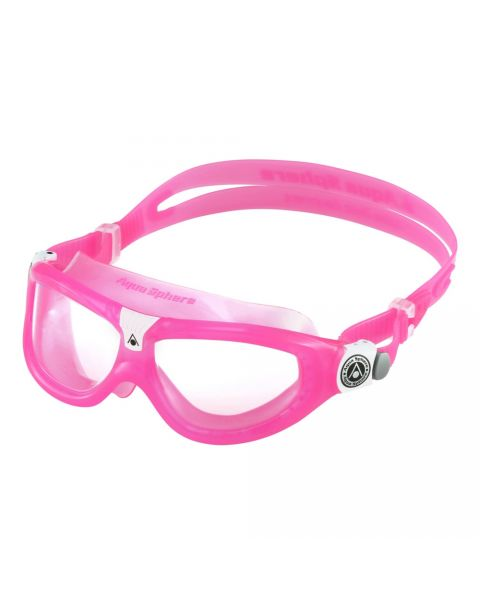 Aqua Sphere Seal JR Clear Lens Goggle - Pink / White