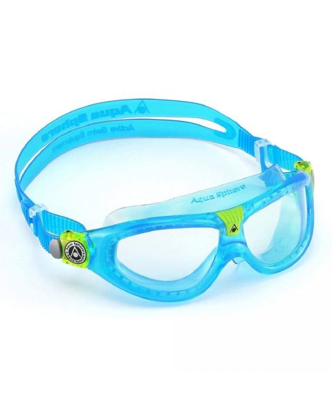 Aqua Sphere Seal JR Clear Lens Goggle - Turquoise / Lime