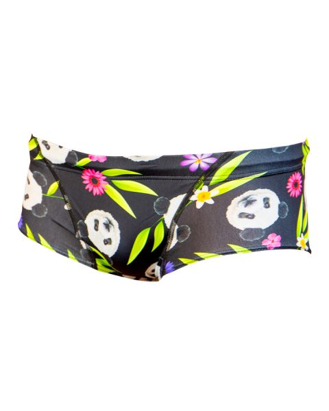 Aquarapid Niños Panda Bañador Trunks - Negro / Multicolor
