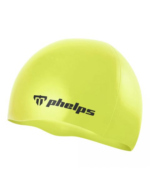 Phelps Classic Silicone Badehætte - Neon Gul