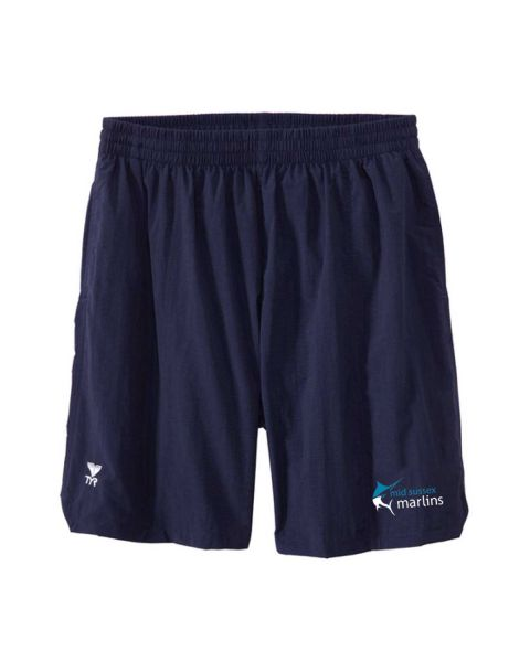 Mid Sussex Marlins Male TYR Deck Shorts - Navy